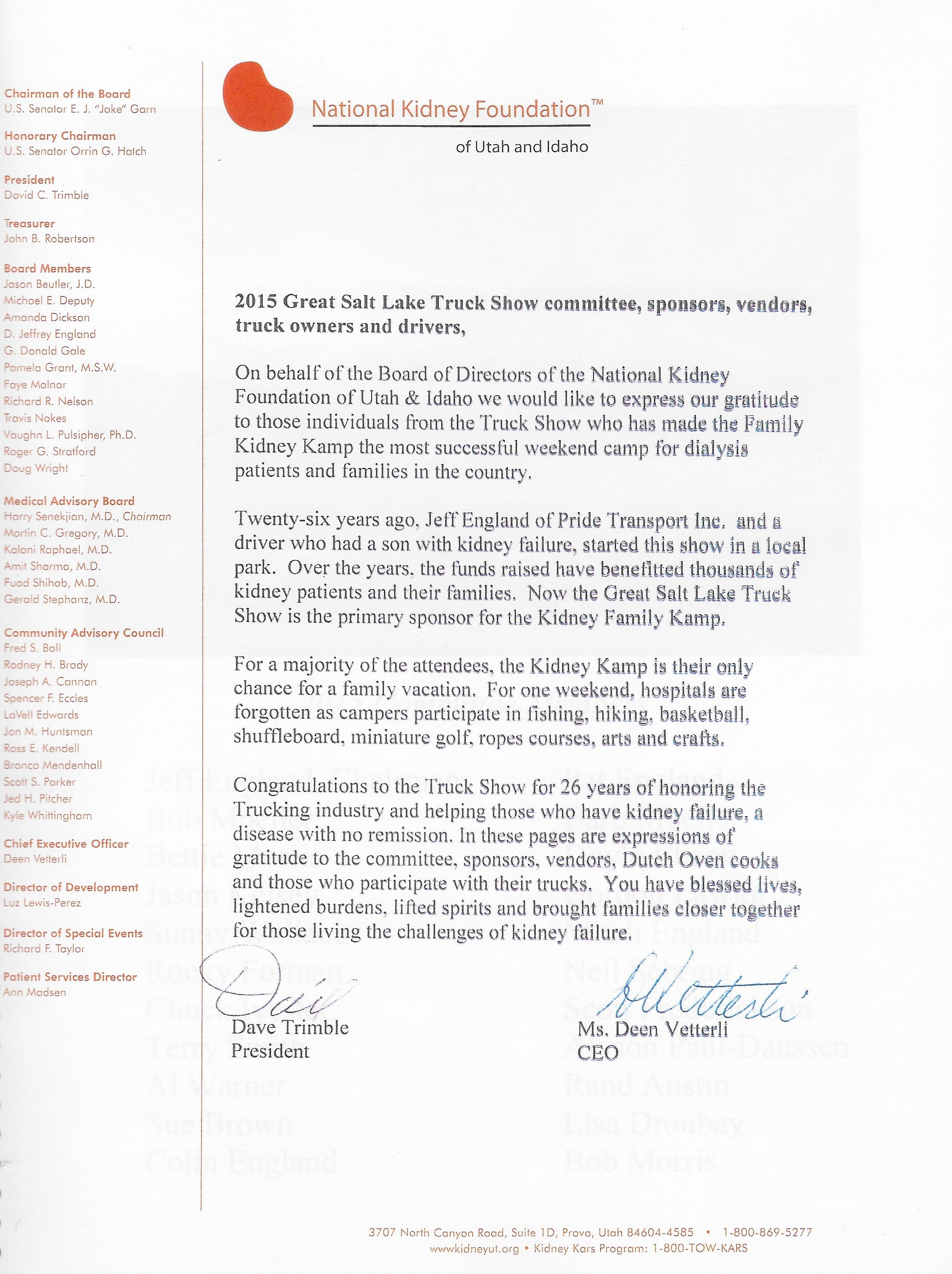 NKF thank you letter